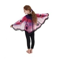 DOUGLAS CO. DREAMY DRESS UP PINK BUTTERFLY WINGS WITH GLITTER