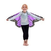 DOUGLAS CO. DREAMY DRESS UP PURPLE MONARCH BUTTERFLY WINGS WITH GLITTER