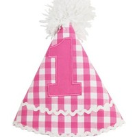 RUFFLEBUTTS, INC. CANDY GINGHAM BIRTHDAY HAT