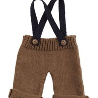 MUD PIE KNIT SUSPENDER & CAP SET