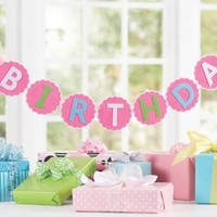 MUD PIE FIRST BIRTHDAY BANNER