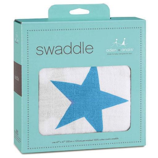 ADEN + ANAIS ADEN & ANAIS BRILLIANT BLUE CLASSIC SWADDLE