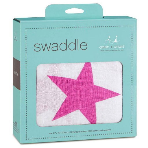 ADEN + ANAIS ADEN & ANAIS TWINKLE PINK CLASSIC SWADDLE