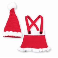 MUD PIE MUD PIE SANTA SKIRT AND HAT SET