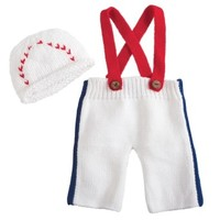 MUD PIE MUD PIE BASEBALL NEWBORN SET