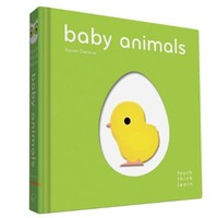 CHRONICLE BOOKS TOUCH THINK LEARN BABY ANIMALS BOOK <br /> BY XAVIER DENEUX