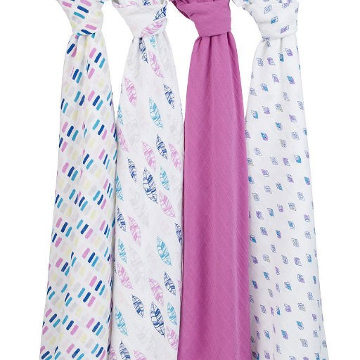ADEN + ANAIS ADEN & ANAIS WINK 4 PACK CLASSIC SWADDLES