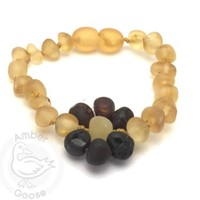 MOMMA GOOSE PRODUCTS AMBER HONEY WITH CHERRY FLOWER BRACELET