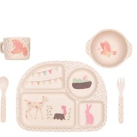 LOVE MAE WOODLAND TEA PARTY 5PC SET