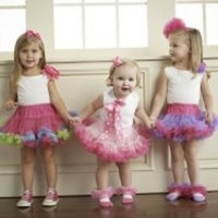 MUD PIE HOT PINK & PURPLE PETTI SKIRT