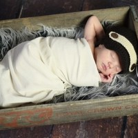 THE DAISY BABY BOYS HAT BAND & VISOR
