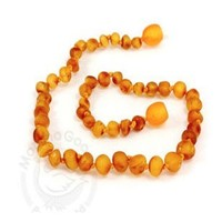 MOMMA GOOSE PRODUCTS BABY AMBER TEETHING NECKLACE - BAROQUE