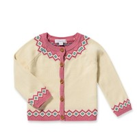ANGEL DEAR ANGEL DEAR GIRLS FAIR ISLE CARDIGAN SET