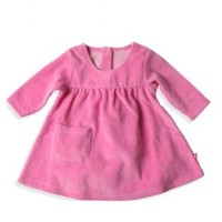 ZUTANO ZUTANO VELOUR LITTLE POCKET DRESS