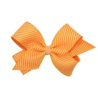 WEE ONES MEDIUM DIAGONAL STRIPE OVERLAY BOW