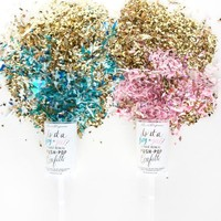 THIMBLE PRESS GENDER REVEAL PUSH-UP POP CONFETTI