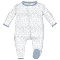 MAGNIFICENT BABY MAGNIFICENT BABY BLUE FUNNY BUNNIES FOOTIE