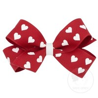 WEE ONES MEDIUM HEART BOW