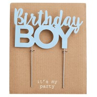 MUD PIE BIRTHDAY BOY CAKE TOPPER
