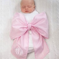 MUD PIE PINK BIG BOW SWADDLE