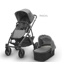 UPPA BABY UPPABABY VISTA STROLLER PASCAL-GREY/CARBON FRAME 2017