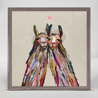 OOPSY DAISY LLAMA LOVE MINI FRAMED CANVAS 6X6