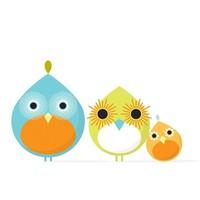 OOPSY DAISY MOD BIRD TRIO 14X14
