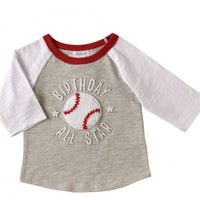 MUD PIE 1 BIRTHDAY ALL STAR T-SHIRT