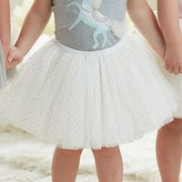 MUD PIE IVORY AND GOLD GLITTER TUTU