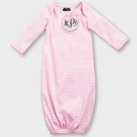 MUD PIE PINK MONOGRAM ME SLEEP GOWN