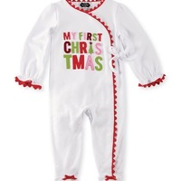 MUD PIE FIRST CHRISTMAS KIMONO SLEEPER