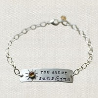 "SWOON YOU ARE MY SUNSHINE 8"" STERLING SILVER BRACELET"