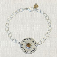"SWOON MY ONLY SUNSHINE BRACELET 5.5"" STERLING SILVER BRACELET"