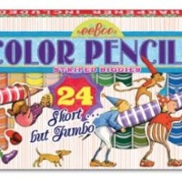 EEBOO 24 STRIPED BIGGIE COLOR PENCILS