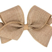 WEE ONES CANVAS GLAM MEDIUM BOW