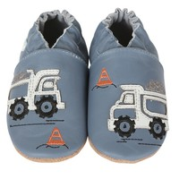 ROBEEZ LITTLE DUMP TRUCK SOFT SOLE SHOE