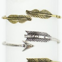 WEE ONES FEATHER CUFF BRACELET