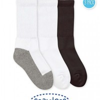 JEFFERIES SOCKS 3 PACK-WHITE CREW SOCKS