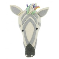 FIONA WALKER FIONA WALKER ENGLAND PASTEL SAFARI ROCK ZEBRA HEAD WALL MOUNT