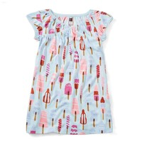 TEA ICY POLES WRAP NECK NIGHTGOWN