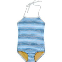 TOOBY DOO TOOBY DOO WATERCOLOR BLUE ONE-PIECE SWIMSUIT