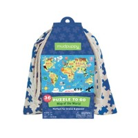 HACHETTE MUDPUPPY MAP OF THE WORLD PUZZLE TO GO