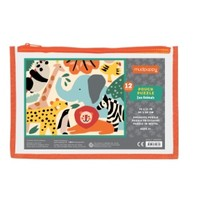GALISON MUDPUPPY ZOO ANIMALS POUCH PUZZLE