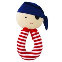 ALIMROSE PIRATE GRAB RATTLE RED