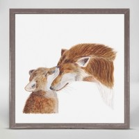 OOPSY DAISY MINI FRAMED MOM AND BABY FOX 6X6