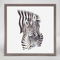 OOPSY DAISY MINI FRAMED MOM AND BABY ZEBRA 6X6