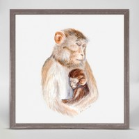 OOPSY DAISY MINI FRAMED MOM AND BABY MONKEY 6X6