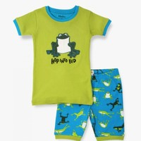 HATLEY HOPPING FROGS SHORT PJ SET