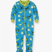 HATLEY HOPPING FROGS FOOTED COVERALL