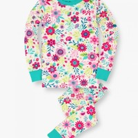 HATLEY FLOWERS ORGANIC COTTON PJ SET